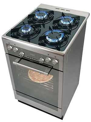 Can cast iron be can calphalon be used on glass cooktops